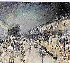 Boulevard Montmartre, Night Effect - Camille Pissarro -