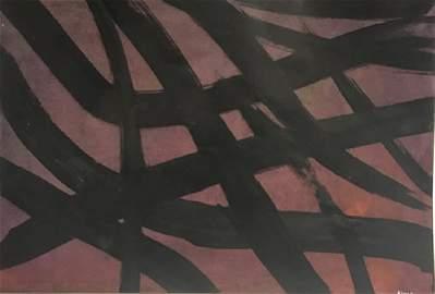 Franz Kline - Oil On Paper