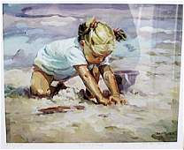 Beach Blond - Lucelle Raad - Lithograph