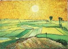 Wheat Field - Vincent Van Gogh - Oil On Canvas