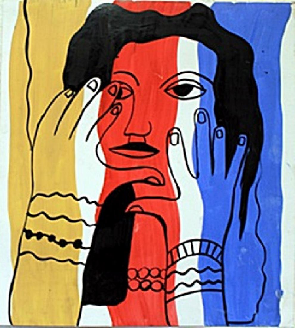Woman II   Oil Painting on Paper  Fernand Ledger