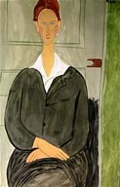 Ms. Clatizsse - Amadeo Modigliani - Watercolor On Paper