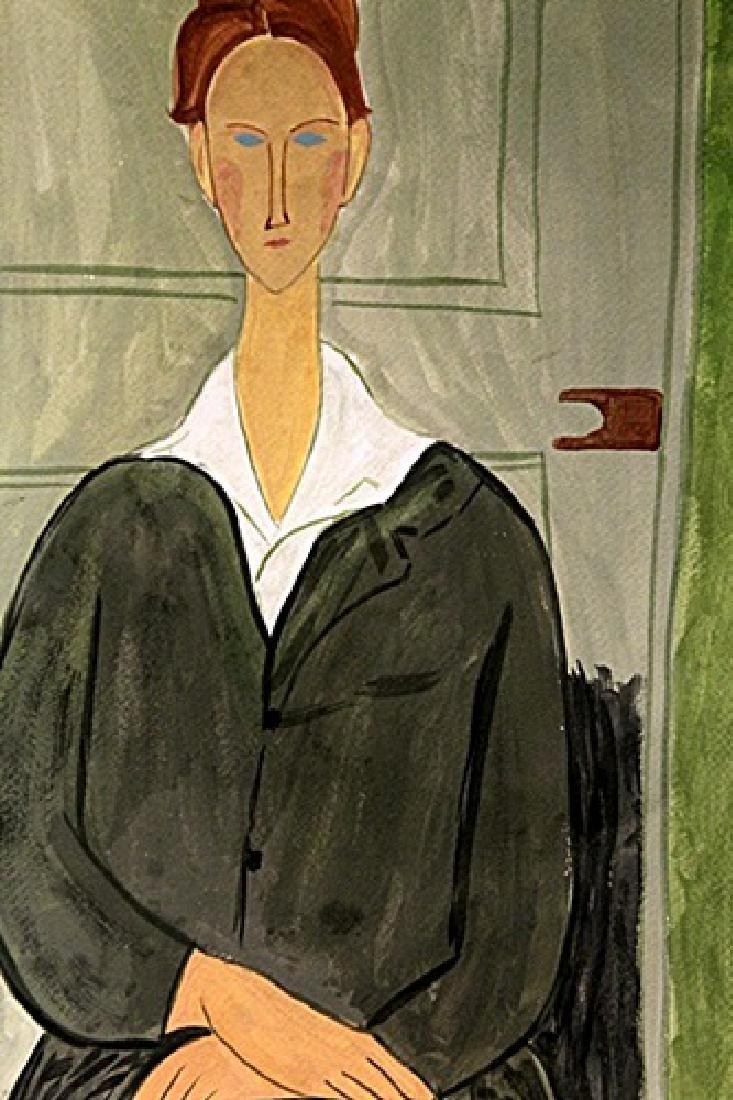 Ms. Clatizsse - Amadeo Modigliani - Watercolor On Paper - 2