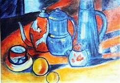 Maurice De Vlaminck - Still Life with Set of Tea