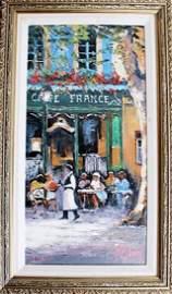 Café France - James Pratt - Giclee on Canvas