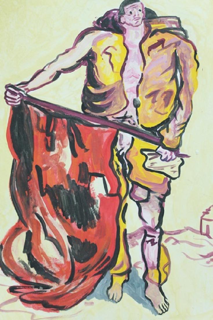 Bull fighter - Emil Nolde - Watercolor