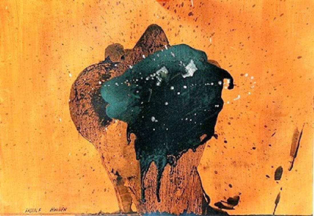Bomb - Arnulf Rainer - Oil On Paper