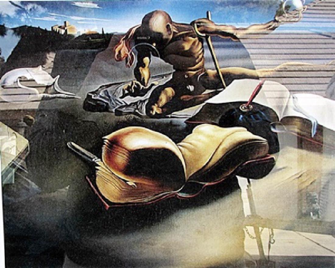 Book Transforming Itself - Salvador Dali - Lithograph