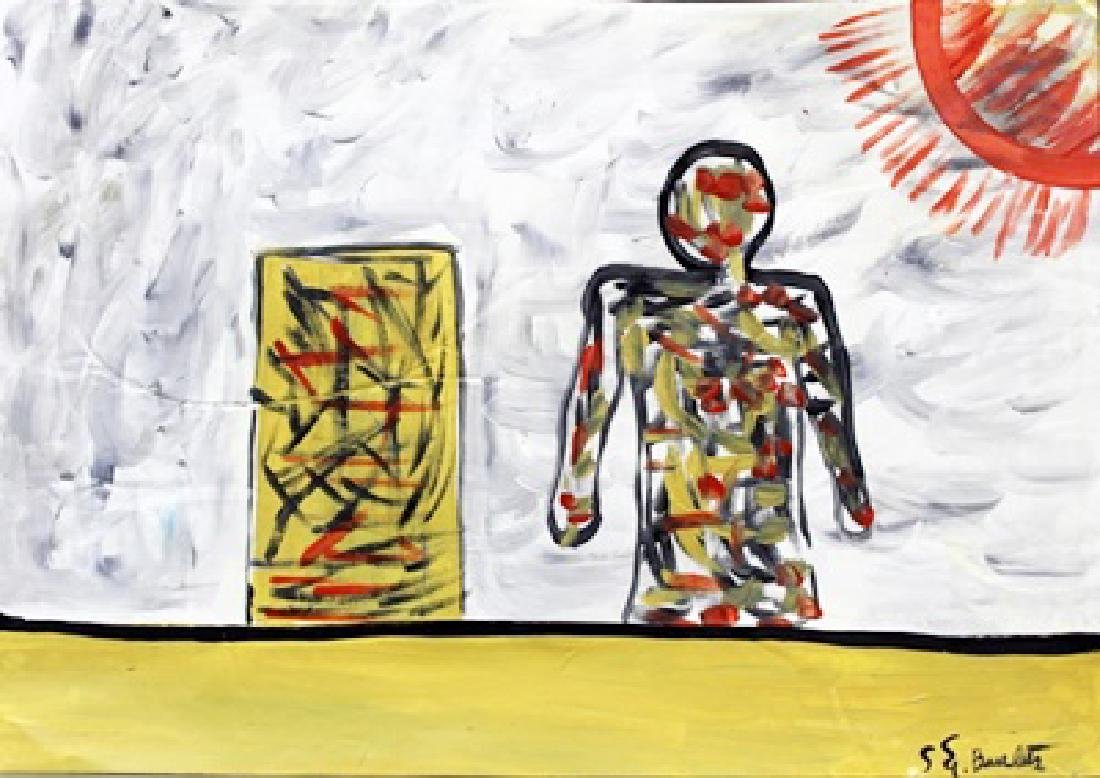 The Sun - Georg Baselitz - Oil On Paper