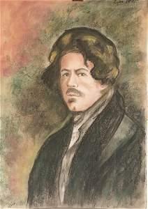 Self Portrait - Eugene Delacoix - Pastel On Paper