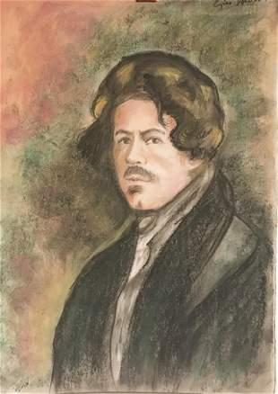 Self Portrait Eugene Delacoix Pastel On Paper