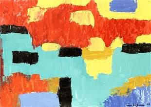 Infinity Hans hofmann Oil On Paper