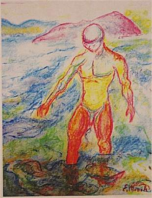 Edvard Munch Man In The River