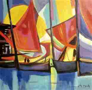 Oil On Canvas Marcel Mouly 44F