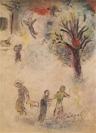 Marc Chagall Signed Lithograph 137
