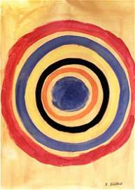 Circles - Kenneth Noland - Oil on Paper
