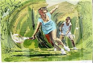 Tennis Harry Schaare Lithograph