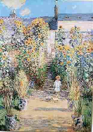 The Artists Garden at Vtheuil Claude Monet