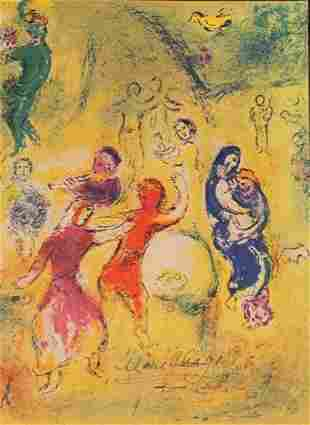 Marc Chagall Signed Lithograph 117