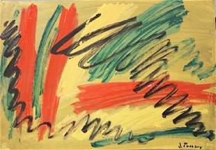 Jack Tworkov Oil On Paper