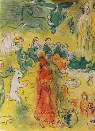 Marc Chagall Signed Lithograph 59