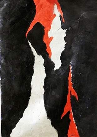 Clyfford Still Oil On Paper