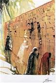 Wailing Wall - Salvador Dali - Lithograph 458U