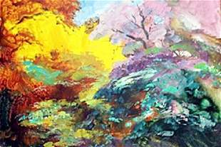 Original Michael Schofield Oil on Canvas