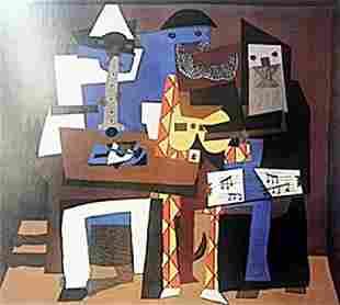 Print Three Musicians Pablo Picasso
