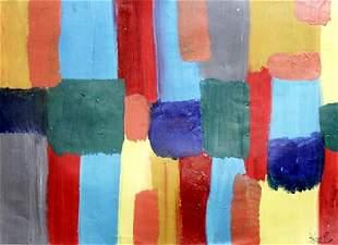 Composotion Frantisek Kupka Oil On Paper