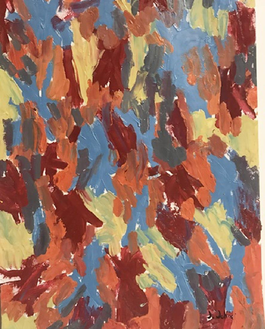Red And Blue - Jasper Johns - Oil On Paper