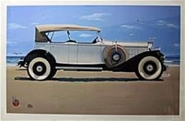"Lithograph ""Vintage Rolls-Royce"" after Hamn James C."