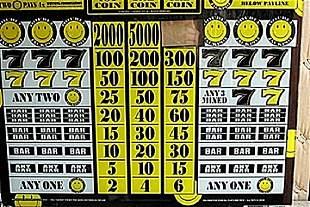 Vintage Collectible Casino Slot Machine Glass Double