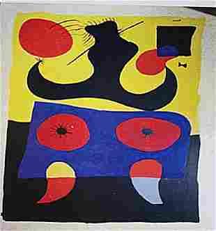 Joan Miro Woman With Hat