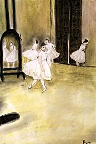 The Dancers Edgar Degas Pastel On Paper