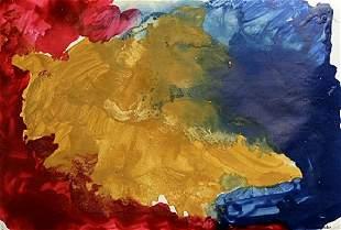 Red Arena Helen Frankenthaler Oil On Paper