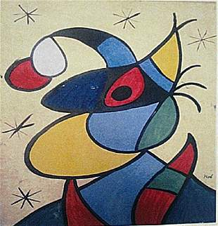 Joan Miro Witch With Hat