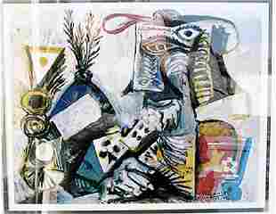 The Card Player II Pablo Picasso Lithograph