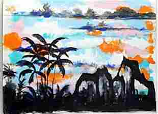 Original Kaiser Land Oil Painting William Verdult