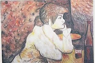 Henri de ToulouseLautrec Woman at a Table