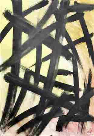 Bruho Franz Kline Oil On Paper