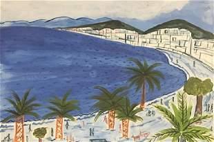 La Marne Raoul Dufy Watercolor On Paper