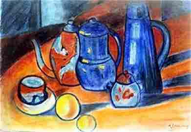 Pastel Drawing  M. Vlaminck