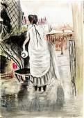 Woman with Hat 1880'  Berthe Morisot
