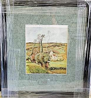 Framed Lithograph Pontoise by Pissarro