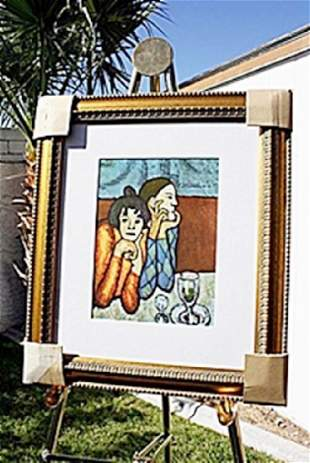 Authentic Harlequin and His Companion Picasso
