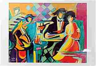 authentic serigraph The Jazz Club after Philip