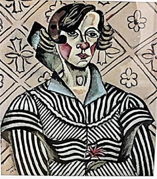 Portrait of Juanita Obrador Joan Miro Lithograph