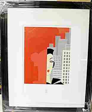 Framed Lithograph by Joan Miro