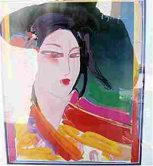 Asia Peter Max Lithograph